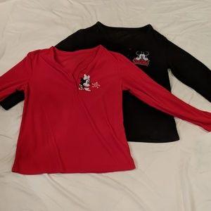 Set of Longsleeve Minnie/Mickey Pajama Shirts